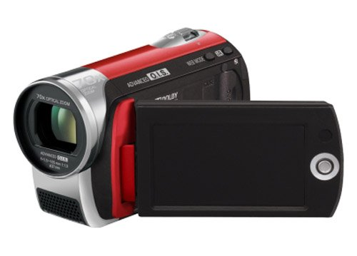 Panasonic SDR-S26 Flash Memory Camcorder With SD Card Slot - Red