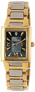 Le Chateau Women's 1816LCLTT_BLK Diamond Accented Two-Tone Watch