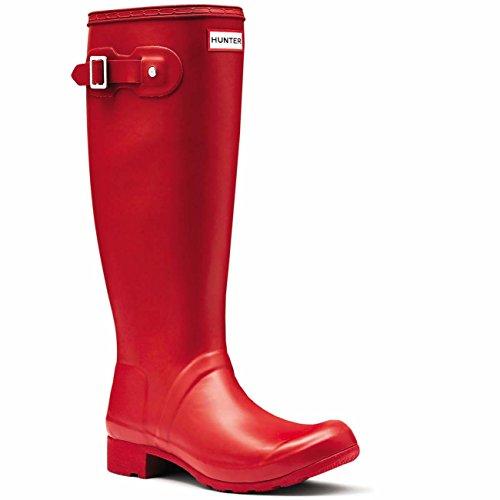 Womens Hunter Original Tour Festival Winter Boots Snow Rain Wellingtons - Military Red - 8 - 39