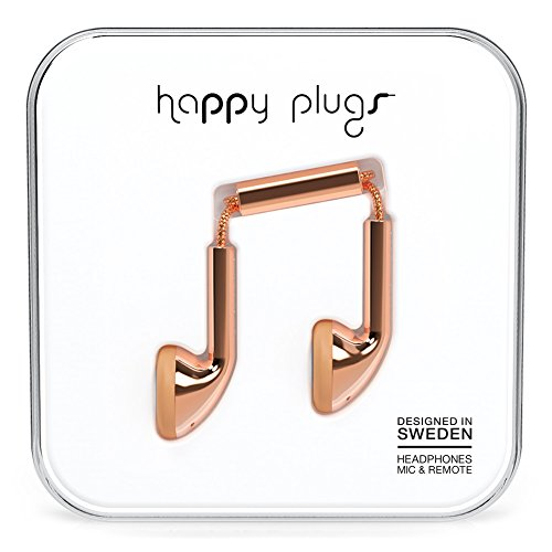 Happy Plugs 7737 Earbuds, Rose Gold (Happy Plugs Deluxe compare prices)