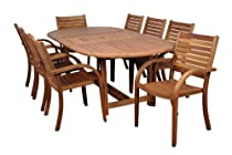 Hot Sale Amazonia Arizona 9-Piece Eucalyptus Oval Dining Set