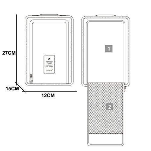 Smartstar Portable Breathable Zipper Travel Shoe Storage Tote Bag wellhouse wh00335 portable zipper license storage bag black