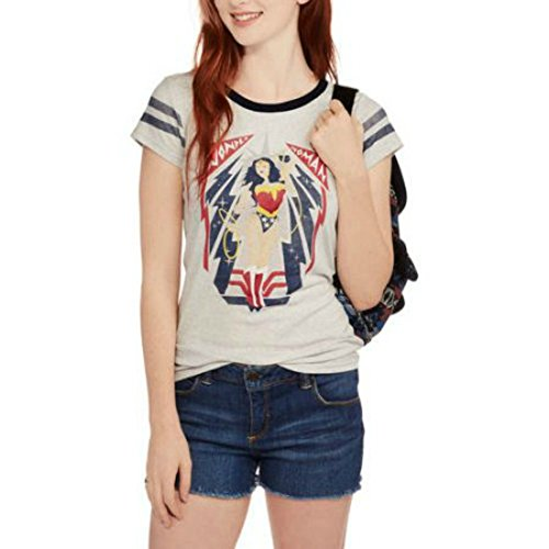 DC Comics Wonder Woman Juniors Graphic Hockey Tee (M) (Wonder Woman Merchandise compare prices)