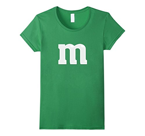 [Women's Easy Halloween Costume - M&M Candy Tee - T-Shirt Small Grass] (Candy Woman Costumes)