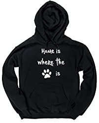 HippoWarehouse Home Is Where The Dog Is unisex Hoodie hooded top