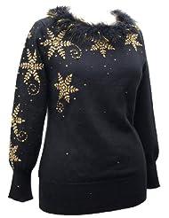 Snowflake Christmas Sweater rhinestone snowflakes