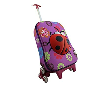 Childrens 3D Ladybird Suitcase / Rollercase Travel Bag