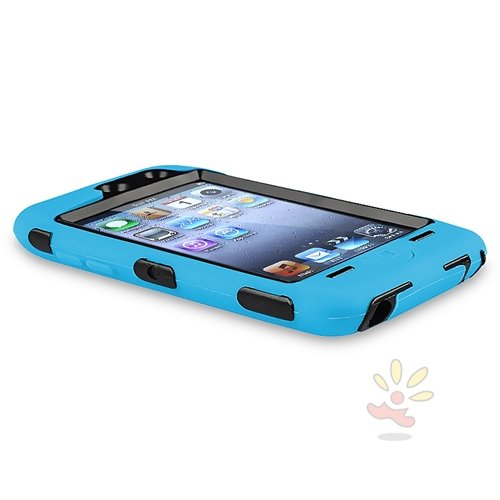 Deluxe Blue 3 part Hard Skin Case Cover