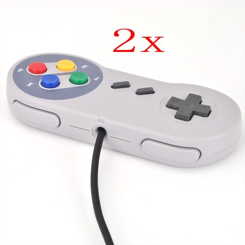 Atekcity 2 New Wired SNES Super Nintendo Classic Controller Control Pad for SNES Systems