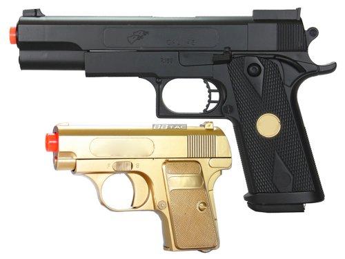 BBTac BT-P169(1+1) P169 Airsoft Pistol Package, Gold