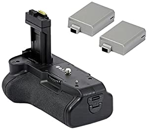 Minadax Batteriegriff & 2 Akkus wie LP-E8 für Canon EOS 650D, 600D und 550D - ersetzt BG-E8, inklusive 2x Akku Power