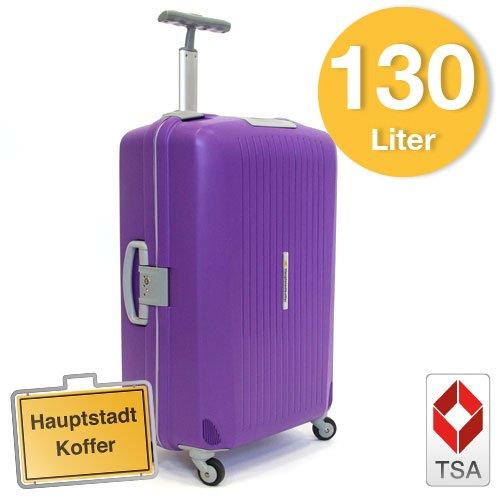Hartschalen Koffer Lila/Grau Matt Hochglanz max.130