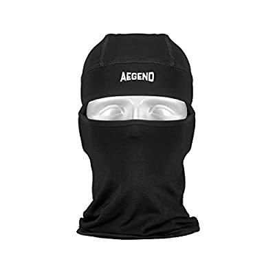 Aegend Balaclava Ski Face Mask with Fleece for Women Men Kids Tactical Balaclava Hood for Motorcycle Snowboard Cycling Outdoor Sports in Winter Neck Warmer or Lightweight Windproof Hat-Black, 1 size