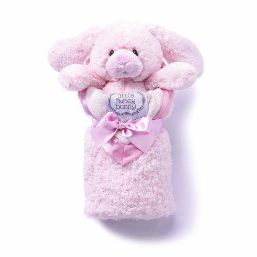 kathy ireland Plush and Blanket Set, Pink Bunny - 1