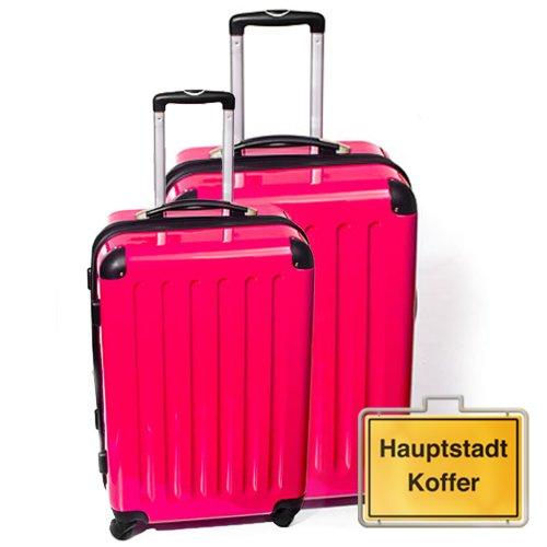 HAUPTSTADTKOFFER 2er Set Magenta (87Liter/130Liter)