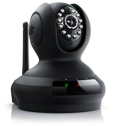 CSL - HD Wireless IP Überwachungskamera | Überwachungs-/ Sicherheitskamera | Wireless Netzwerkkamera | 350°/ 100° schwenkbar | Bewegungserkennung + Nachtsichtmodus + Gegensprechanlage | MicroSD-Slot | WEP, WPA, WPA2 | Mikrofon + Lautsprecher | fernsteuerbar (per App)