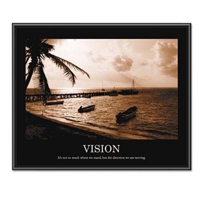 Advantus Vision Framed Sepia-Tone Motivational Print, 30 X 2