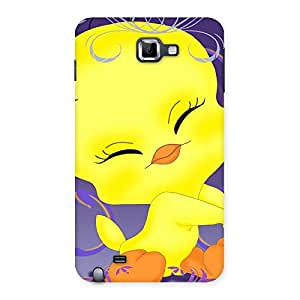Sky Print Cute Tweet Back Case Cover for Galaxy Note