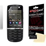 **PACK OF 3** - NOKIA ASHA 300 CLEAR Screen Protectors with cleaning cloth - TECHGEAR