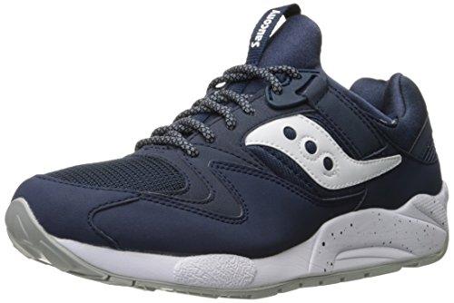 Saucony Grid 9000, Sneaker a Collo Basso Uomo, Nero (Navy/White), 43 EU