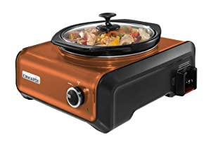 Crock-Pot SCCPMD2-CP Hook Up Round Connectable Entertaining System, 2-Quart, Metallic Copper