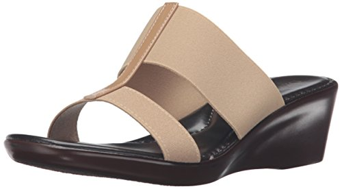 Italian Shoemakers Women's 400m Wedge Sandal, Natural, 10 M US (Italian Shoes For Women Wedge compare prices)