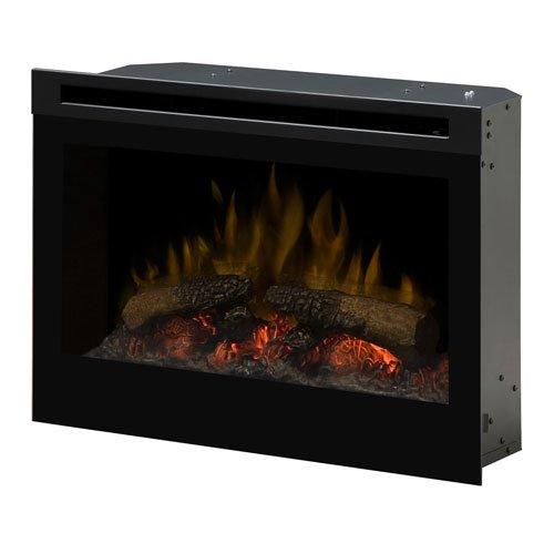 Dimplex DF2550 Self-Trimming 25-Inch Plug-In Firebox, Black