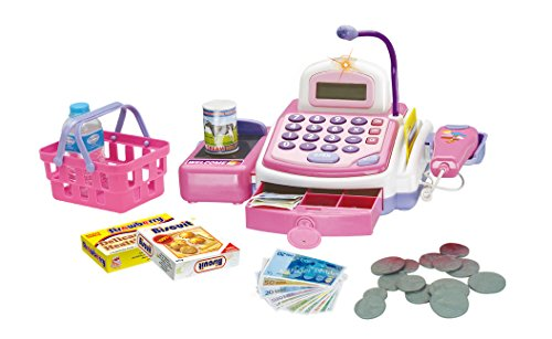 Prextex Pretend Play Electronic Toy Cash Register With Mic Speaker And Play Money Included Christmas Gift For Kids (Girls Toy Cash Register compare prices)