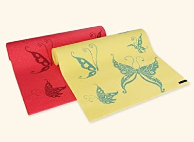 Wai Lana Yoga and Pilates Mat, Butterfly (Coral)