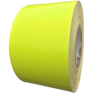 Fluorescent Reflective Tape Tape 100mm X 5M - Weatherproof Adhesive