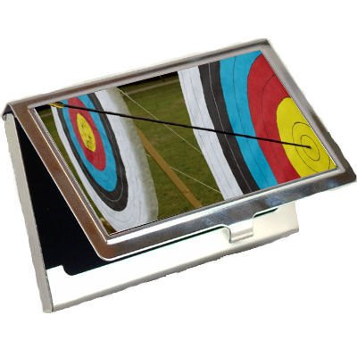 Archery Target Business Card Holder