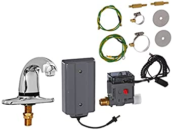 """Rubbermaid Commercial Products 1903288 Auto Faucet SST Milano Automated Bathroom Faucet Only with Surround Sensor Technology, 4"""" Center Mount, Polished Chrome"""