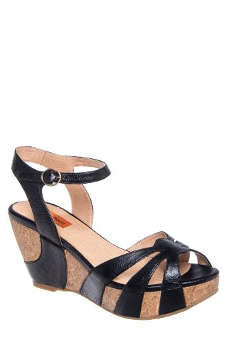 Yancy Mid Wedge Ankle Strap Sandal