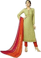 Matindra Enterprise Buy Latest Karachi Work Green Chiffone Dress materials