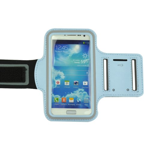 Deluxe Good Quality Workout Running Armband For Samsung Galaxy S4 And Samsung S3 (Babyblue)