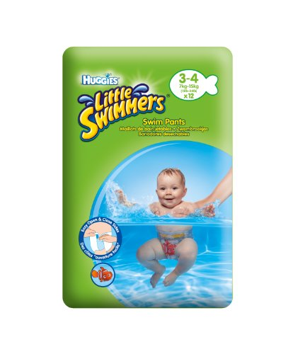 Huggies Little Swimmers Disposable Swim Diapers, Small, 12-Count – Pink/Blue