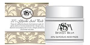 20% Glycolic Acid Pads, 50 Glycolic Acid Pads | Asdm Beverly Hills