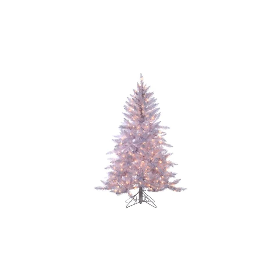 4.5 Pre Lit Designer White Ashley Spruce Artificial Christmas Tree Clear Lights