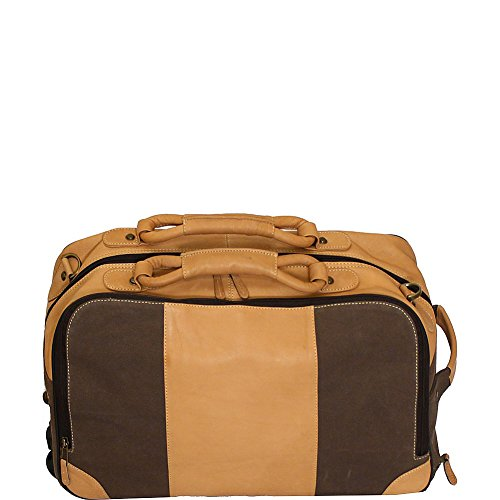canyon-outback-stilson-canyon-20-inch-leather-and-canvas-rolling-duffel-bag