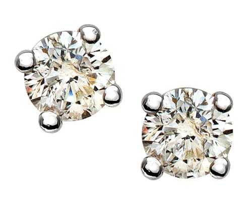 0.25 Carat Diamond Stud Earrings in 9ct Yellow Gold