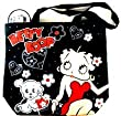 Betty Boop Tote Bag - Large Tote Bag in Black - Zip Tote Feat. Betty Boop and her dog Poochie