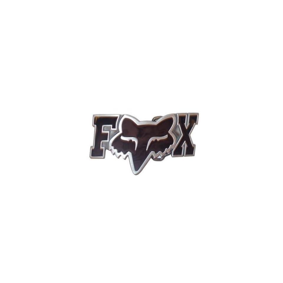 Black FOX RACING Logo Belt Buckle Black FOX HEAD y