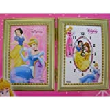 Disney Princess Picture Frame and Clock decoration set