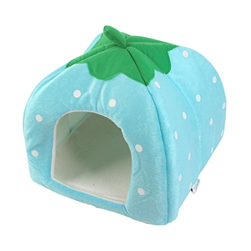 """Dot Pattern Pet Cat Dog Doggy Warm Kennel Tent House 7.1""""Hole Height front-1008361"""