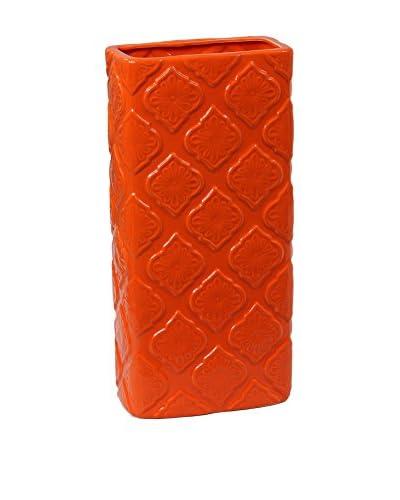 Privilege International Large Ceramic Vase, Orange