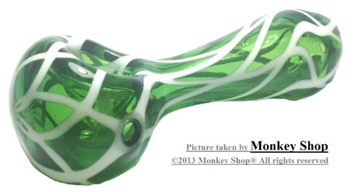 Glass Tobacco Pipe (Green/4.0