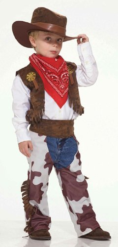 Child's Cowboy Costume Size Small (4-6)