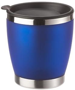 EMSA 504842 CITY CUP Isolierbecher mit Trinkverschluss, Edelstahl/transluzent blau