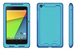 Bobj Rugged Case for Nexus 7 FHD 2013 Model Tablet - BobjGear protective cover (Not for 1st generation 2012 Nexus 7) (Terrific Turquoise)