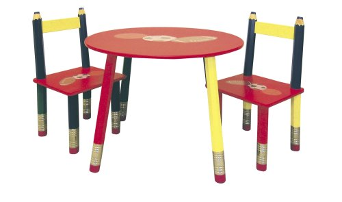 Ore International H-58 Kids' Primary-Color 3-Piece Table Set